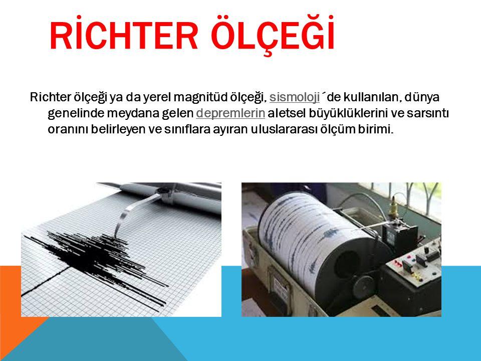 RİCHTER ÖLÇEĞİ