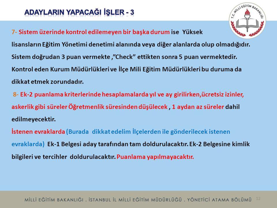 ADAYLARIN YAPACAĞI İŞLER - 3