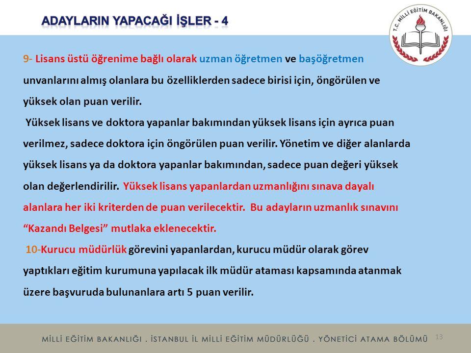 ADAYLARIN YAPACAĞI İŞLER - 4