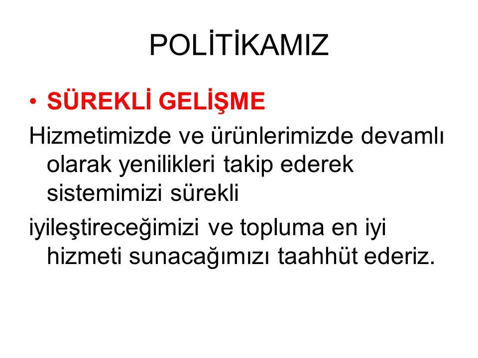 POLİTİKAMIZ SÜREKLİ GELİŞME
