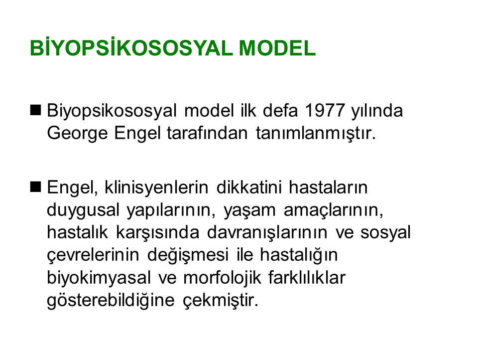 BİYOPSİKOSOSYAL MODEL