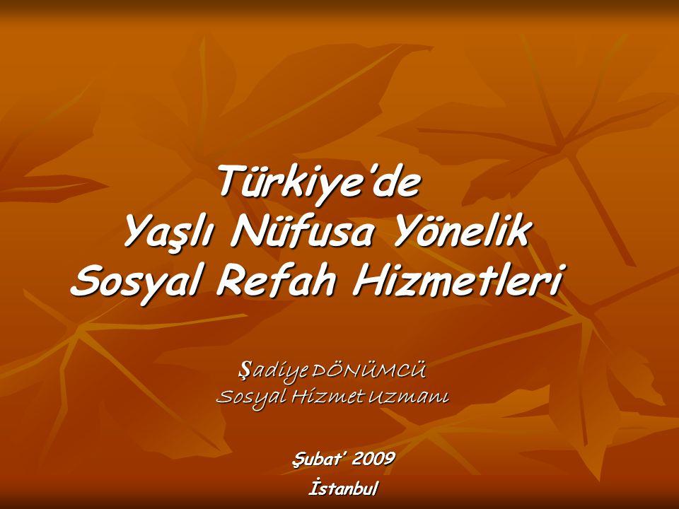 Türkiye'de Yaşlı Nüfusa Yönelik Sosyal Refah Hizmetleri