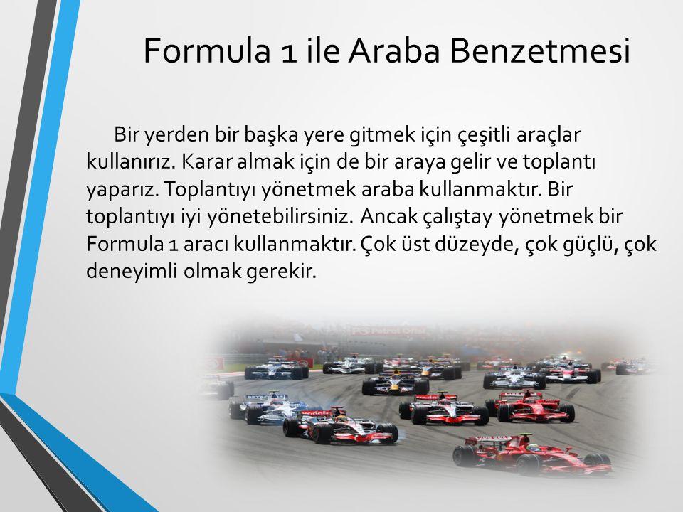 Formula 1 ile Araba Benzetmesi