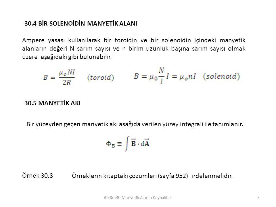Bölüm30 Manyetik Alanın Kaynakları
