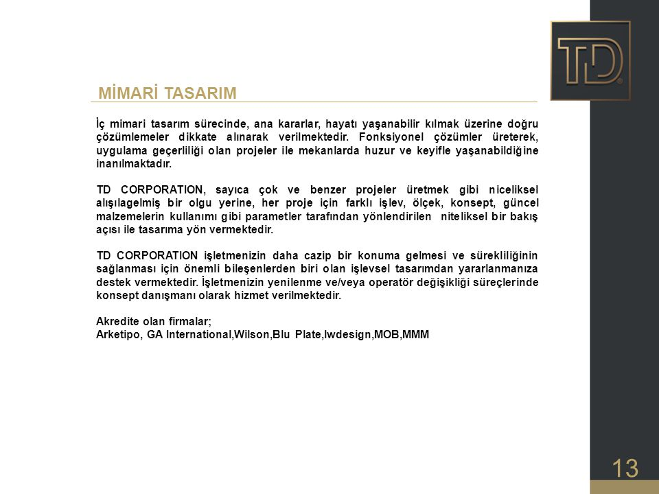 MİMARİ TASARIM