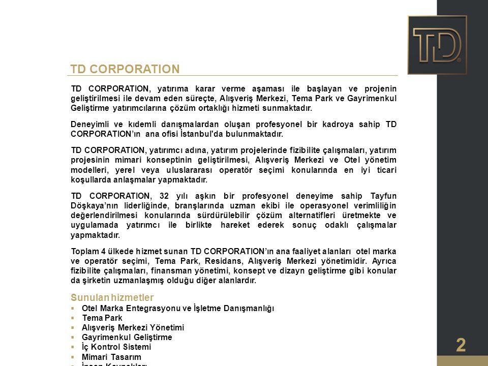 TD CORPORATION Sunulan hizmetler