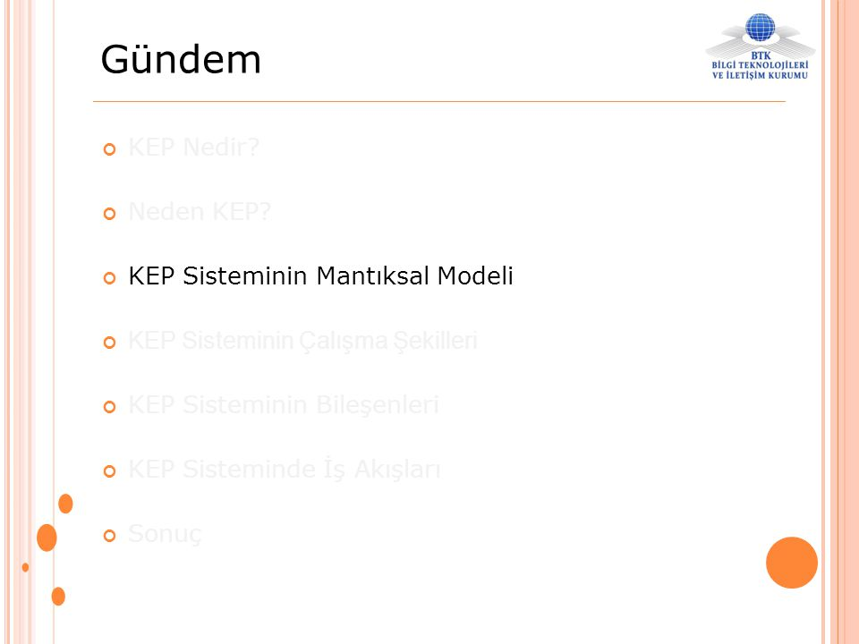 Gündem KEP Nedir Neden KEP KEP Sisteminin Mantıksal Modeli