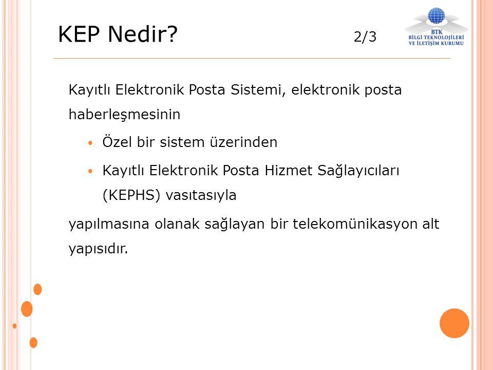 KEP Nedir 2/3 Kayıtlı Elektronik Posta Sistemi, elektronik posta haberleşmesinin. Özel bir sistem üzerinden.