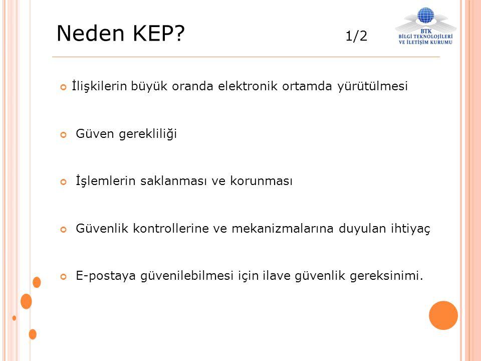 Neden KEP 1/2 İlişkilerin büyük oranda elektronik ortamda yürütülmesi