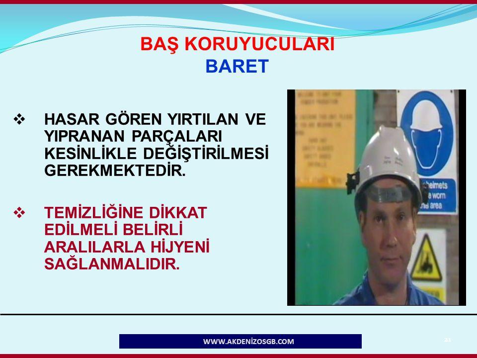 BAŞ KORUYUCULARI BARET