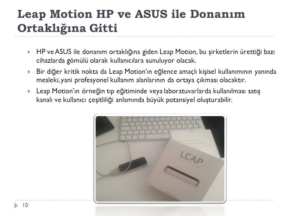 Leap Motion HP ve ASUS ile Donanım Ortaklığına Gitti