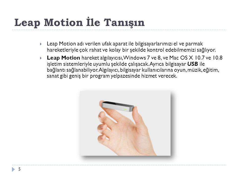 Leap Motion İle Tanışın