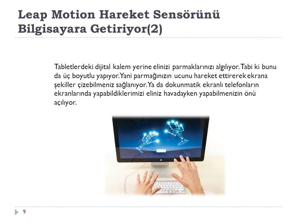 Leap Motion Hareket Sensörünü Bilgisayara Getiriyor(2)