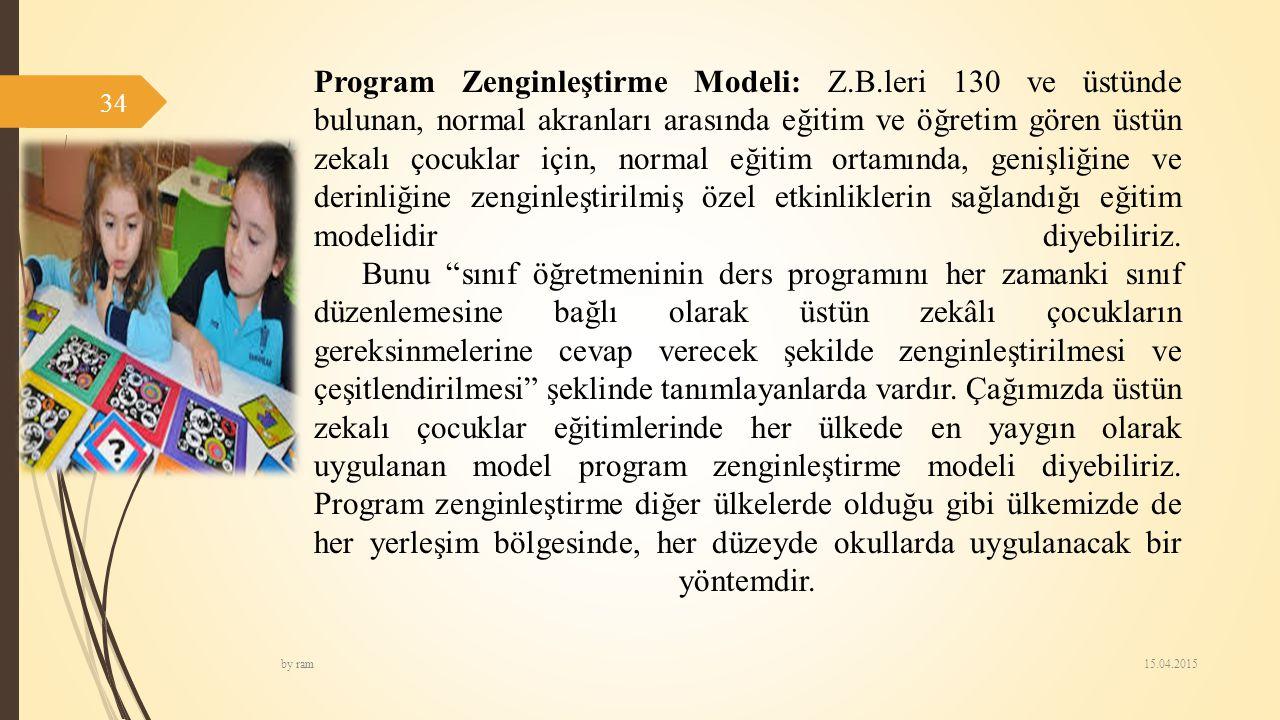 Program Zenginleştirme Modeli: Z. B