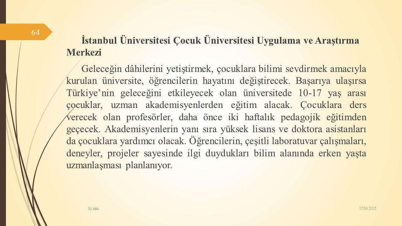 İstanbul Üniversitesi Çocuk Üniversitesi Uygulama ve Araştırma Merkezi