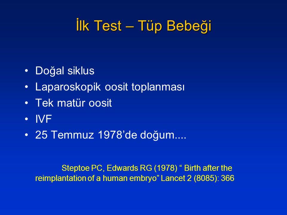 İlk Test – Tüp Bebeği Doğal siklus Laparoskopik oosit toplanması