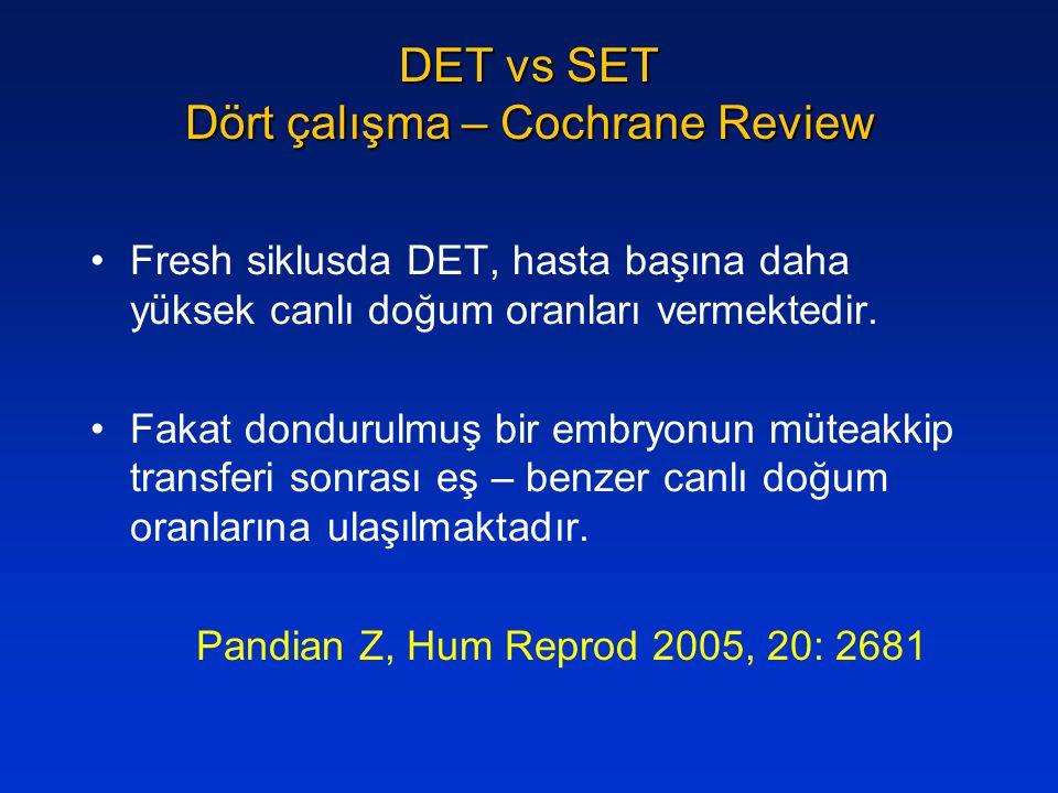 DET vs SET Dört çalışma – Cochrane Review