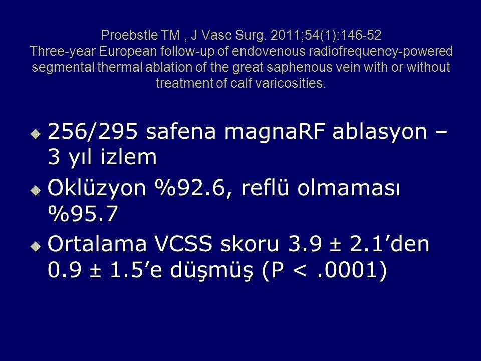 256/295 safena magnaRF ablasyon – 3 yıl izlem