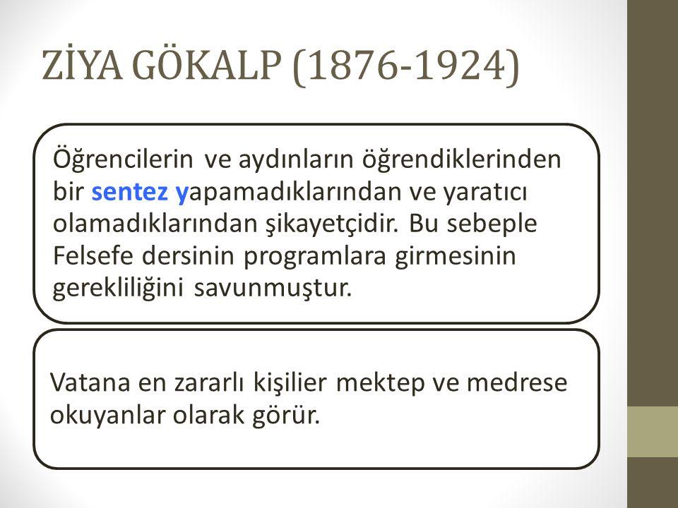 ZİYA GÖKALP (1876-1924)