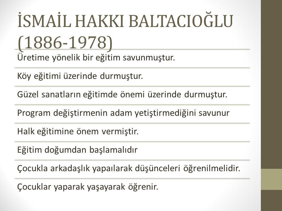 İSMAİL HAKKI BALTACIOĞLU (1886-1978)