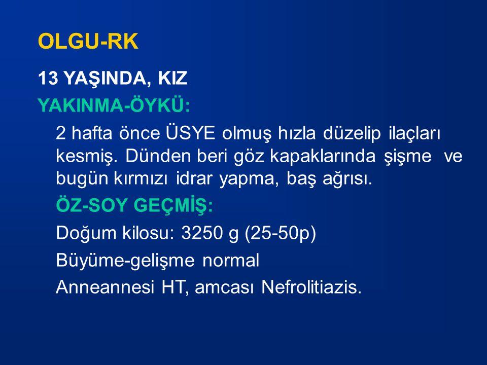 OLGU-RK 13 YAŞINDA, KIZ YAKINMA-ÖYKÜ: