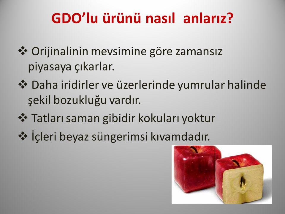 GDO'lu ürünü nasıl anlarız