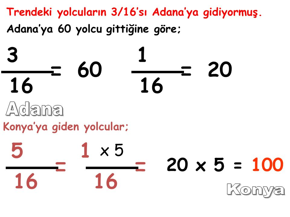 Trendeki yolcuların 3/16'sı Adana'ya gidiyormuş.