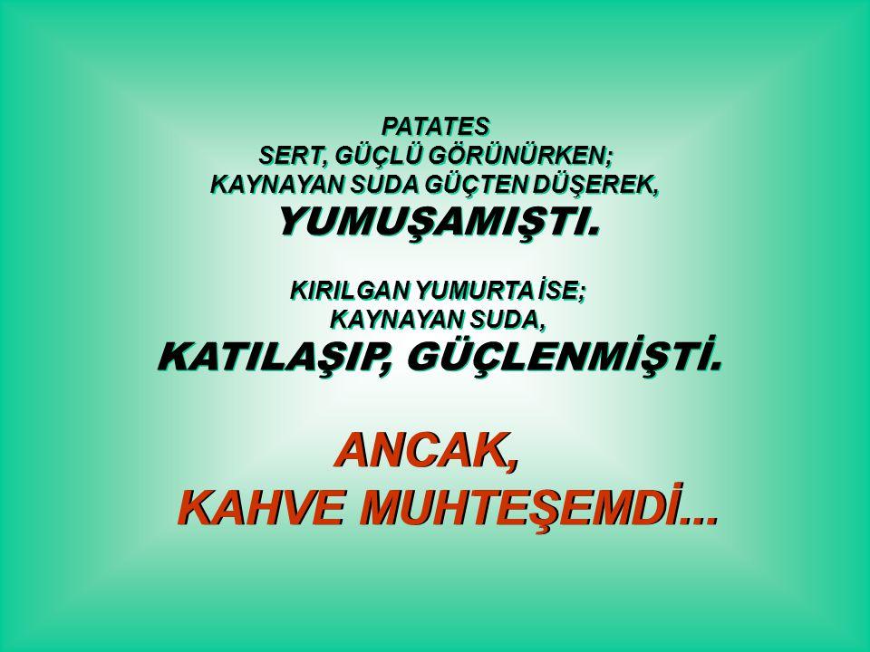 ANCAK, KAHVE MUHTEŞEMDİ...