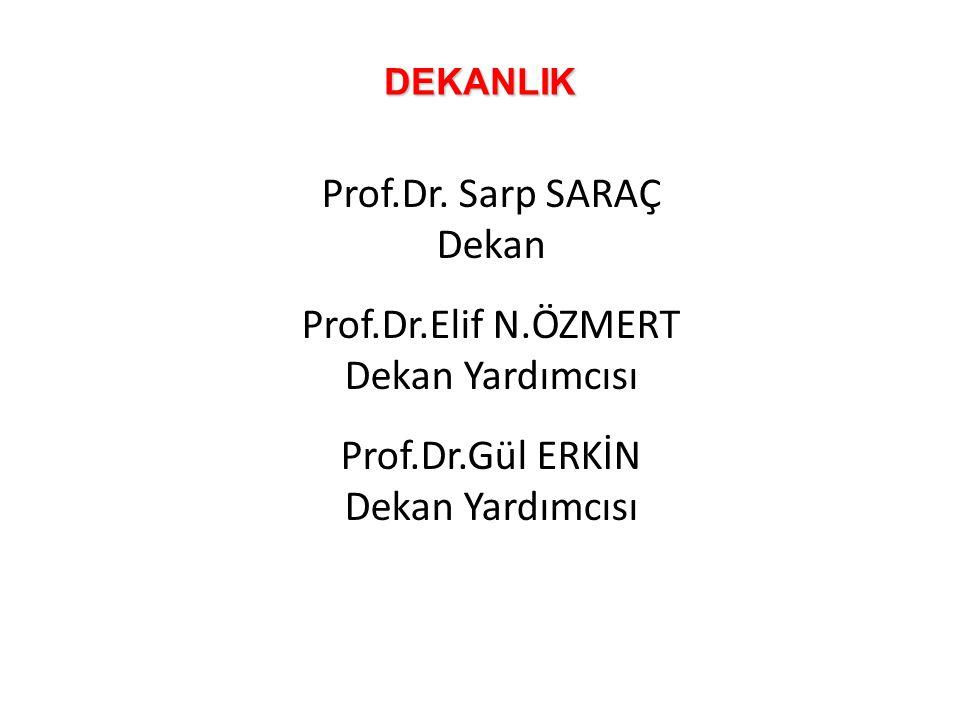 Prof.Dr. Sarp SARAÇ Dekan Prof.Dr.Elif N.ÖZMERT Dekan Yardımcısı