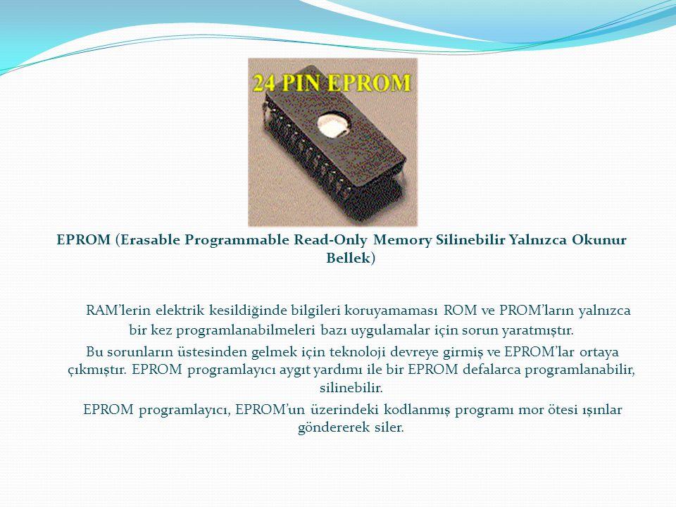 EPROM (Erasable Programmable Read-Only Memory Silinebilir Yalnızca Okunur Bellek)