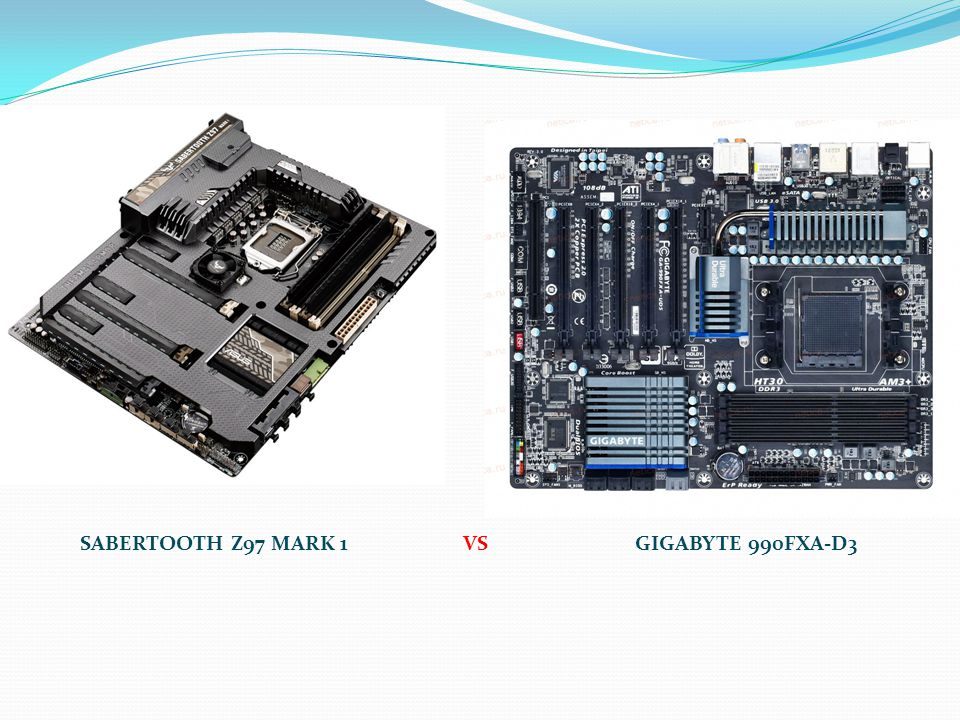 SABERTOOTH Z97 MARK 1 VS GIGABYTE 990FXA-D3