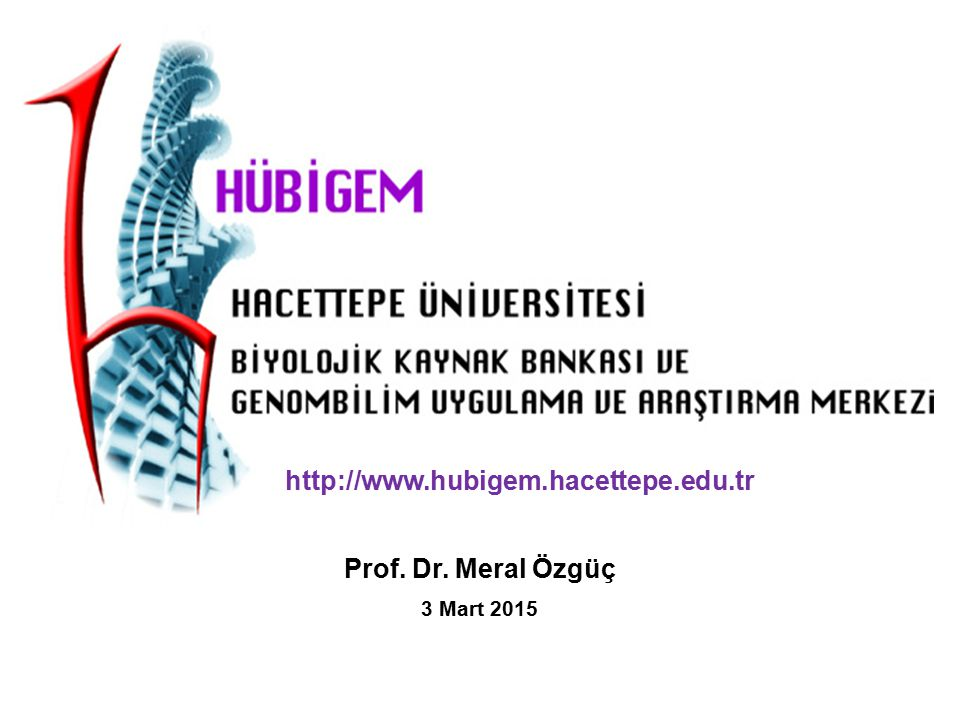 http://www.hubigem.hacettepe.edu.tr Prof. Dr. Meral Özgüç 3 Mart 2015