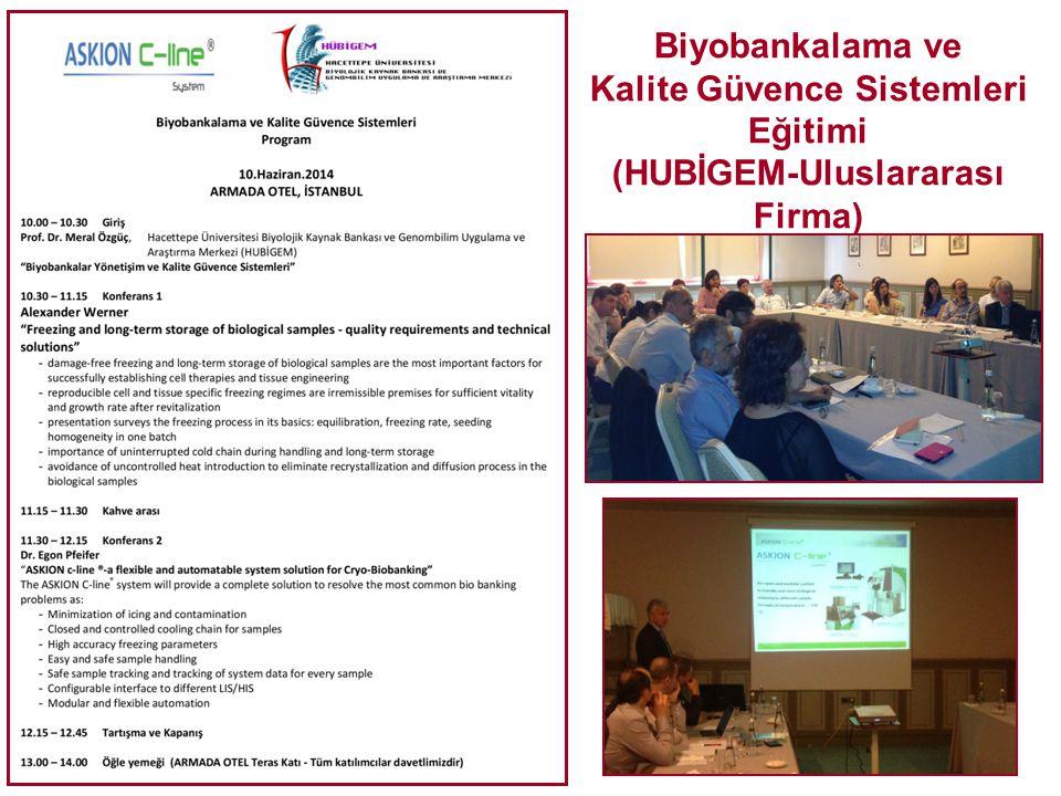 Biyobankalama ve Kalite Güvence Sistemleri Eğitimi (HUBİGEM-Uluslararası Firma)