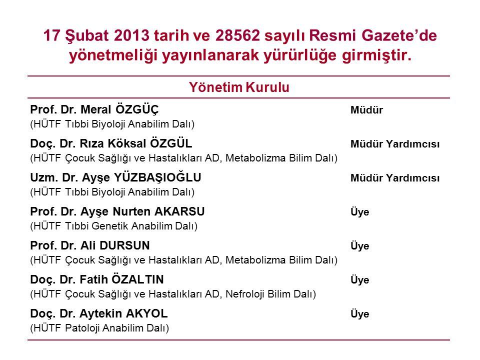 17 Şubat 2013 tarih ve 28562 sayılı Resmi Gazete'de yönetmeliği yayınlanarak yürürlüğe girmiştir.