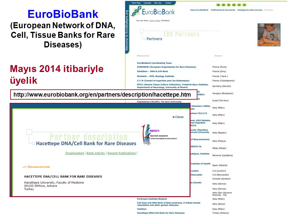 EuroBioBank (European Network of DNA, Cell, Tissue Banks for Rare Diseases)