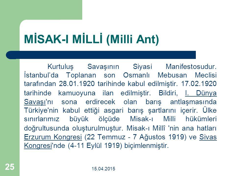 MİSAK-I MİLLİ (Milli Ant)