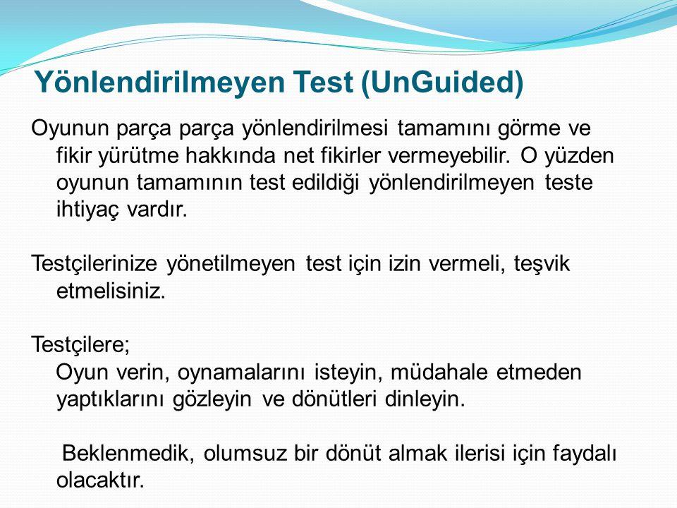 Yönlendirilmeyen Test (UnGuided)