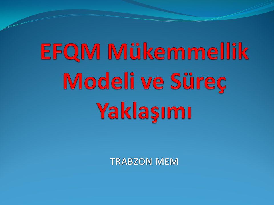 EFQM Mükemmellik Modeli ve Süreç Yaklaşımı TRABZON MEM