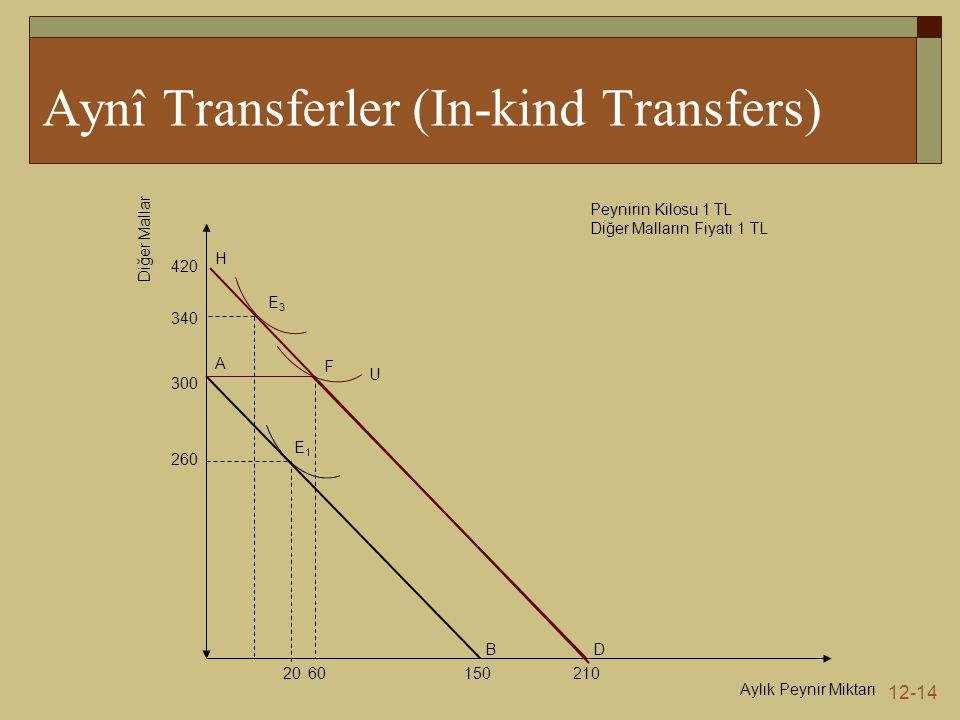 Aynî Transferler (In-kind Transfers)