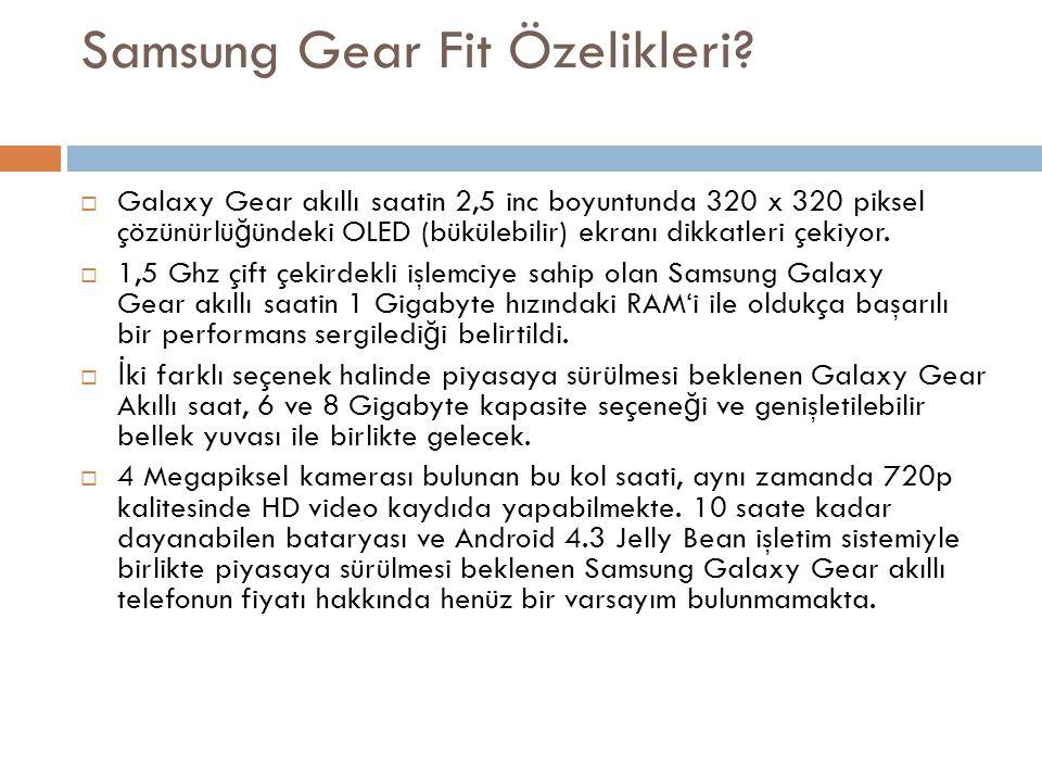 Samsung Gear Fit Özelikleri