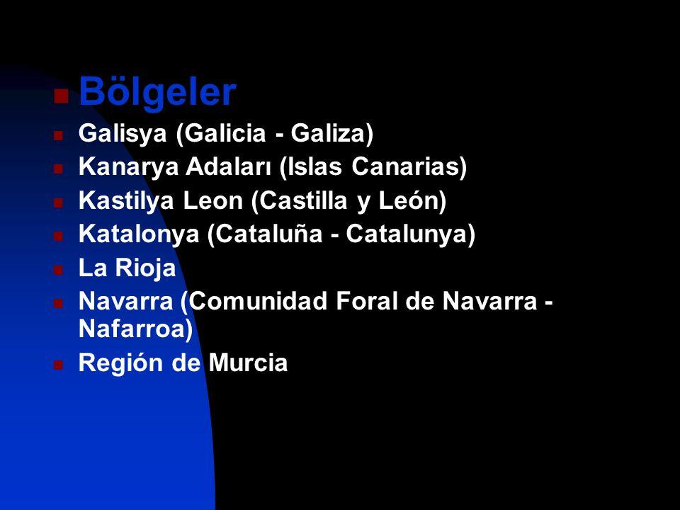 Bölgeler Galisya (Galicia - Galiza) Kanarya Adaları (Islas Canarias)
