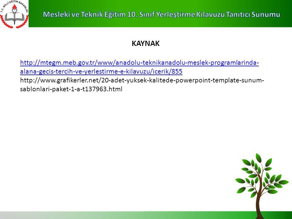 KAYNAK http://mtegm.meb.gov.tr/www/anadolu-teknikanadolu-meslek-programlarinda-alana-gecis-tercih-ve-yerlestirme-e-kilavuzu/icerik/855.