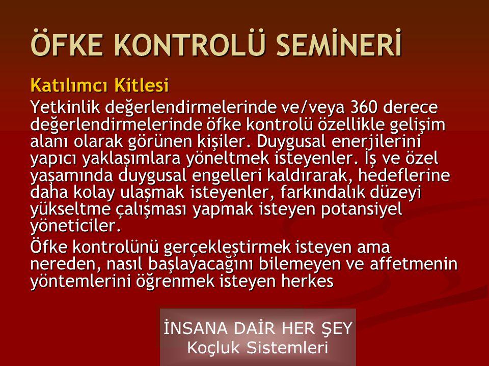 ÖFKE KONTROLÜ SEMİNERİ