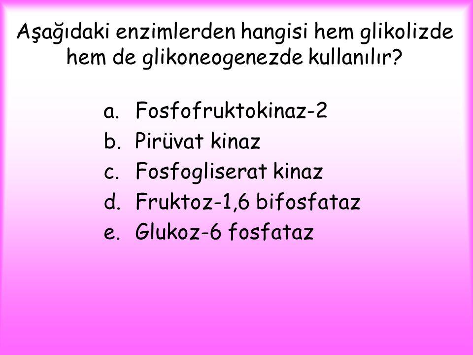 Aşağıdaki enzimlerden hangisi hem glikolizde hem de glikoneogenezde kullanılır