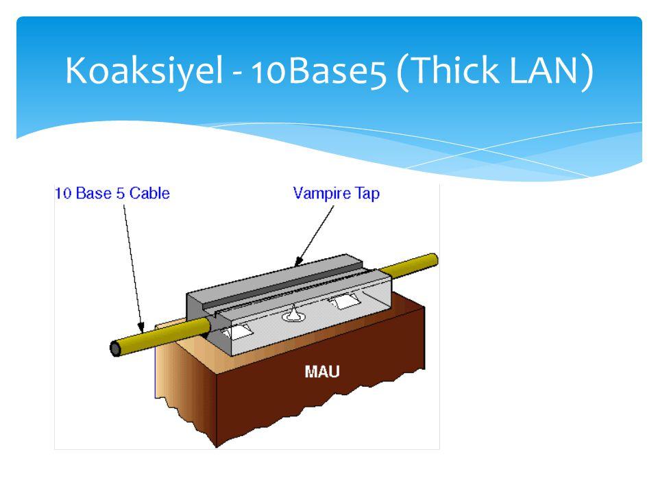 Koaksiyel - 10Base5 (Thick LAN)