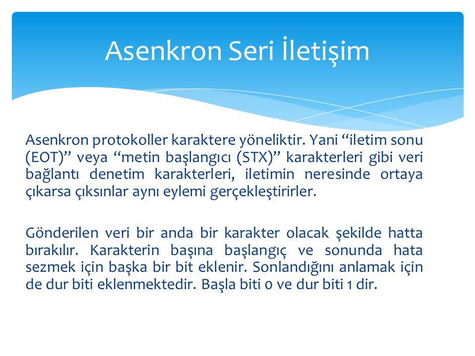 Asenkron Seri İletişim