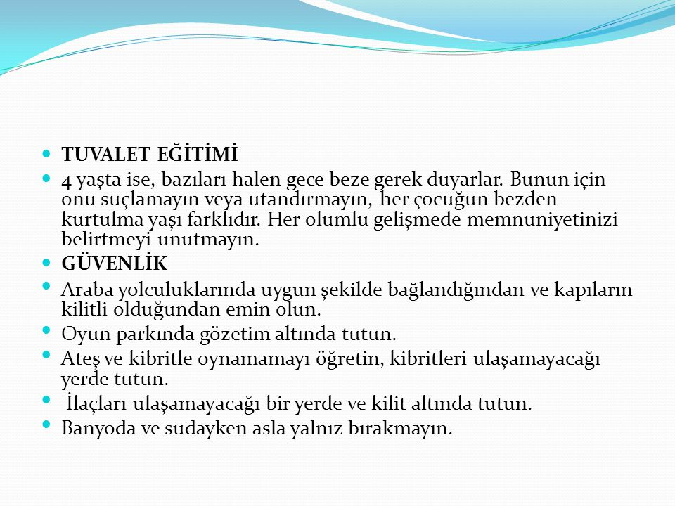 TUVALET EĞİTİMİ