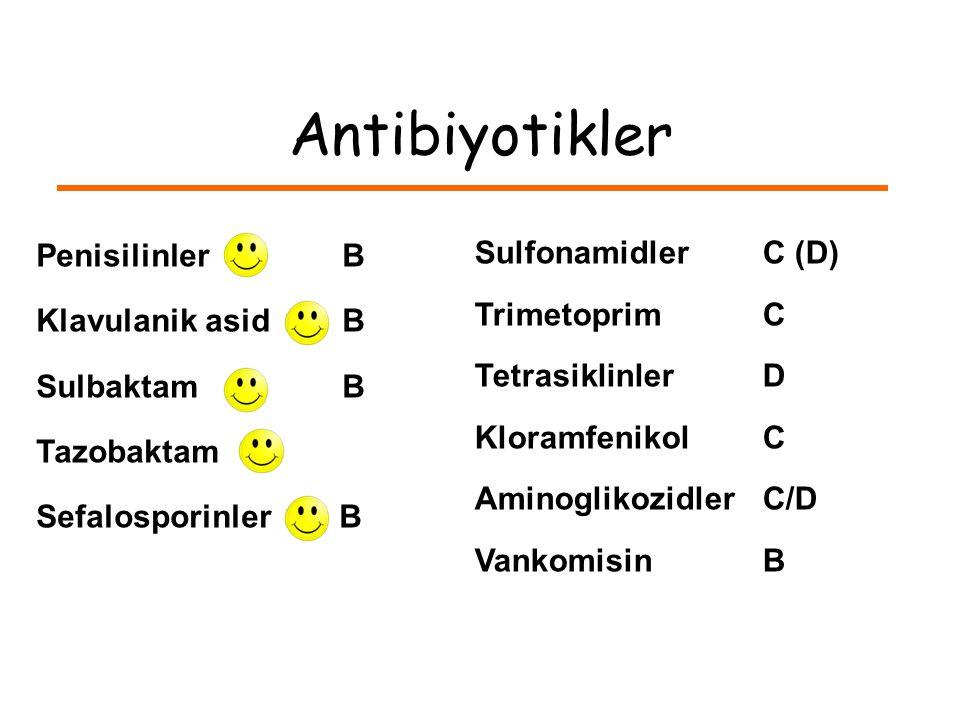 Antibiyotikler Penisilinler B Klavulanik asid B Sulbaktam B