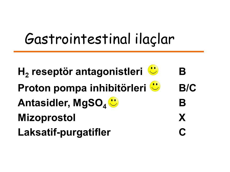 Gastrointestinal ilaçlar