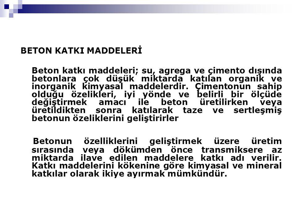 BETON KATKI MADDELERİ